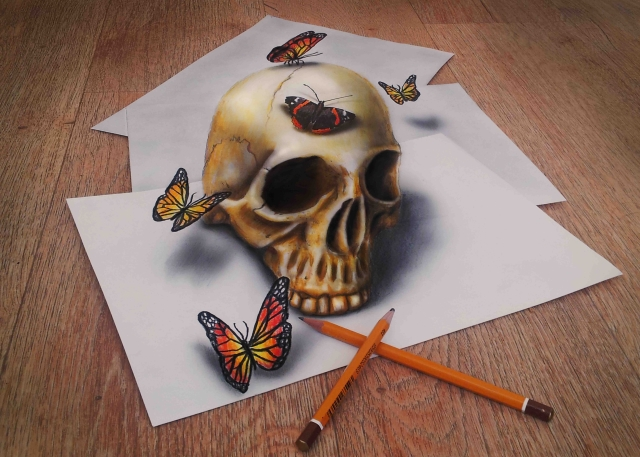 skull_and_butterflies